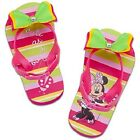 BoWs~MiNNiE MoUsE~JeWeL~FLIP FLOPS with HEEL STRAP~NWT~Disney Store~Junior~2011