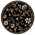 Transitional Oriental Area Rug 8x8 Floral Persian Round Actual - 7' 10