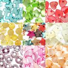 50 Mixed Shell Charms Beads Craft Jewellery - 10 Shapes and 9 Colours