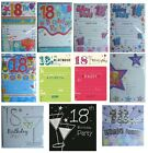 18th BIRTHDAY (Age 18) Party INVITATIONS & Envelopes {Fixed £1 UK p&p}(PI)