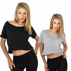 URBAN CLASSICS DAMEN SHORT TEE T-SHIRT BAUCHFREI TANKTOP LADIES 2 FARBEN XS - XL