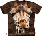 Adult GIRAFFE FACE The Mountain Jungle Zoo Animal T Shirt All Sizes 10-3619