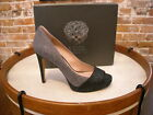 Vince Camuto Timmons Black & Gray Sparkle Peep-toe Pumps NEW