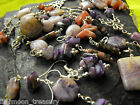 CHAROITE Rhodonite Rhodochrosite Jasper OPAL gemstone pendant earrings choker