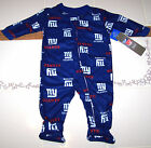 Nwt New York Giants NY Logo Blanket Sleeper Pajamas NFL Football Blue Nice  Cute