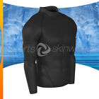 Mens Compression Turtle Neck Long Sleeve Black/Black Stripe T01B/B S ~ 2XL