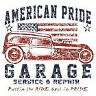 NEW~USA FLAG~AMERICAN PRIDE GARAGE~T-SHIRT~S-3X~LS/SS~MANY COLORS~~SUPPORT TROOP