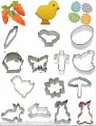 Easter - bunny, carrot, egg, chick, butterfly, duck, basket flower cookie cutter