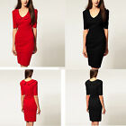 Fashion Women's Summer Peter Pan Collar Office Blouson Short Sleeve Dress