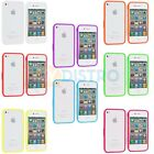 Bumper TPU Solid Jelly Color Rubber Skin Case Cover for iPhone 4 4S 4G