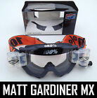 100% PERCENT ACCURI MX MOTOCROSS GOGGLES GUNMETAL SMITH ROLL OFF CANISTERS tvs