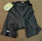 Womens Cycing Shorts Gel Padded Lycra Trico brand in Black Bike Bicycle