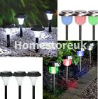 WHITE DECO / COLOUR CHANGING SOLAR LED BULB LIGHT OUTDOOR GARDEN PATIO DECKING