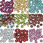 Rose Shaped 8mm Plastic Metallic Coated Acrylic Rosebud Flower Beads PKG 100