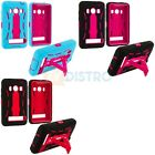 Hybrid Heavy Duty Rugged Hard/Soft Case Cover with Stand for HTC Sprint EVO 4G