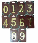 Quality Solid Brass House Door Number Numbers 0-9 Sign Plaque with Screws