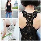 Women's Crochet Butterfly Lace Back Tank Top T-shirt Vest Cami Hollow-out Hot