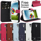 STYLISH LEATHER STAND WALLET FLIP CASE COVER FOR SAMSUNG GALAXY S4 I9500