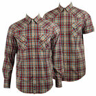 New Mens Ben Sherman Mod Regular Fit Cotton Check Print Shirt Size S-4XL Premium