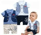 New Boys Kids Baby Formal Romper Pants Jumpsuit 0-24M 1pcs Summer Outfit Clothes