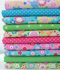 HIPPIE  FUNKY FLORALS - 60'S MOD POLY COTTON FABRIC dots novelty girls HIPPY