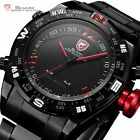 4 Colors SHARK Mens LED Date Day Army Sport Quartz Wrist Watch UK + Gift Box