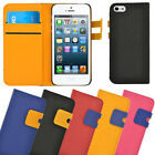 Apple iPhone 5 Stylish High Quality Wallet Case with built in Stand.