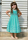 New Exquisite Girls Turquoise And Coral Hand Smocked Dress Boutique 17551