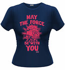 STAR WARS ANGRY BIRDS May The Force Be With You Luke Skywalker GIRLIE T-SHIRT