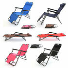 NEW Outdoor Foldable Garden SUN LOUNGERS (PAIR) Camping Reclining Gravity Chairs