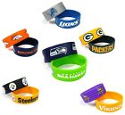 NFL Silicone Rubber Bracelet Wristband 2 Pcs - Pick Team