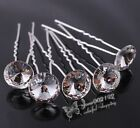 5/10/20x Alloy With Big Crystal Hairpins Bridal Wedding Hair Accessories FC050