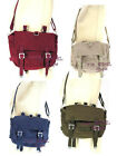 Allternative Punk Outdoor Canvas Umhängetasche bordeaux, blau, khaki oder olive