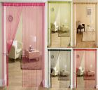 "STRING DOOR CURTAIN PANEL 37"" x 79"" 90cm x 200cm ROOM DIVIDER ALL COLOURS"
