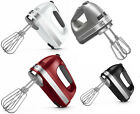 New KitchenAid Hand Mixer 7 Speed Assembled in USA Red Wh...