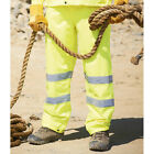 Mens Day Glow Yellow High Visibility Waterproof Over Trousers From Regatta