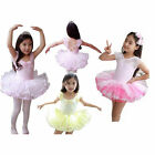 New Girls Kids Dancewear 3-8Y Leotard Ballet Tutu Bow Lace Dancing Skating Dress