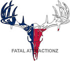 Texas Flag Deer Skull S4 Vinyl Sticker Decal Hunting Buck whitetail bow state