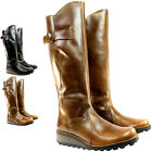 WOMENS FLY LONDON MOL WARM FUR LINED LEATHER KNEE HIGH FLAT BOOTS LADIES 3-8