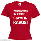 What Happens Kavos Ladies Lady Fit T Shirt 13 Colours Size 6 - 16