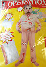 Operation Game Adult Costume Cut-outs Body Parts 4-6 8-10 NIP