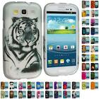 Design Hard Snap-On Rubberized Skin Case Cover for Samsung Galaxy S3 S III Phone