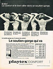 PUBLICITE ADVERTISING   1965    PLAYTEX   soutien gorge le bien aller