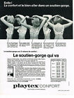 PUBLICITE ADVERTISING   1965    PLAYTEX CONFORT   soutien gorge