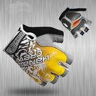 Yellow New Cycling Bike Bicycle 3D GEL Shockproof Sports Half Finger Glove M-XL