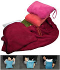 2 Piece Unisex Airplane Travel Set with Throw Blanket and Neck Support Pillow