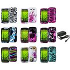 Design Hard Case Cover Accessory+Wall Charger for Blackberry Torch 9850 9860