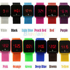 Colorful LED Digital Touch Screen Silicone Date Time Unisex Sport Wrist Watch