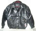 Men's/Women's Black Leather Motorcycle Jacket M-L-XL-2X-3X