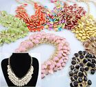 Fashion With Lots Resin Beads Golden Bib Pendant/Necklace Party Jewelry E825